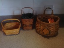 Two Longaberger and one fall baskets in St. Charles, Illinois