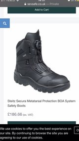 safety boots size 8 EU 42 in Cambridge, UK