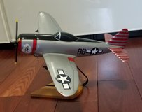 "Hard Carved & Painted Model, Republic P47 Thunderbolt 16"" wingspan in Batavia, Illinois"