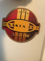 "Santa Fe Red Cigar Band Logo Wood Plaque-Sign (item# 58) 9"" round in Cleveland, Texas"