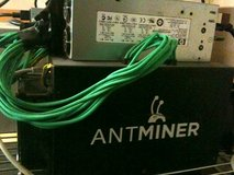 Bitmain Antminer S3 sha256 Bitcoin miner 310Gh/s, with power supply in Fort Lewis, Washington