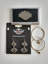 Harley Davidson earrings and card holder in Warner Robins, Georgia