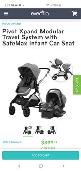 Evenflo pivot xpand double stroller in Okinawa, Japan