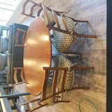"""""""Harden"""" 6 Chair Dining Set .  60 inch table is solid wood with steel frame. in Tinley Park, Illinois"""
