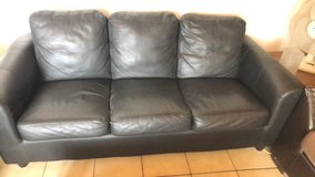 Black 3 Seater Couch with matching Chair in Ramstein, Germany