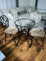 glass table and 2 dining chairs in Vista, California