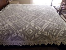 HAND CROCHETTE KING SIZE COVERLET BED SPREAD in Alamogordo, New Mexico