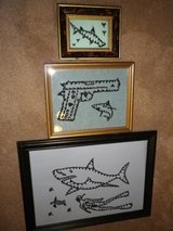 Shark Teeth Art Work in Camp Lejeune, North Carolina