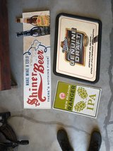 Beer signs and mirror in Clarksville, Tennessee