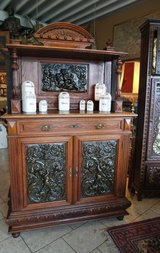 rare cabinet from the 1850's with 3 dimensional ornaments in Stuttgart, GE