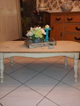 I just finished this coffee table. all wood. Distressed Rustic look in Tomball, Texas