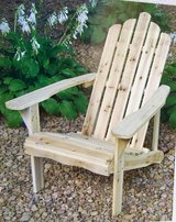 SOLID WOOD ADIRONDACK CHAIR. NIB. BRAND NEW! in Naperville, Illinois