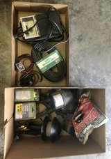Miscellaneous parts for  outdoor lighting system.  Control Box, Metal Spot Lights, Low Voltage Wire in Camp Lejeune, North Carolina