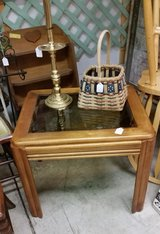 End/side Table-wood and glass in Fort Campbell, Kentucky