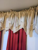 JCP JCPenney Rod Pocket Valance Beige Green Ivory Curtain Panel Drapes Window Treatment Home Dec... in Kingwood, Texas