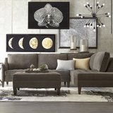 Haverty's Sectional Couch w/Ottoman Grey in Stuttgart, GE