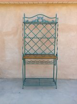 Large Iron Wrought Tuscan style side board with wine rack-excellent condition in Yucca Valley, California