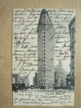 1907 Postcard from New York City in Ramstein, Germany
