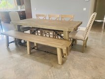 Pottery Barn Benchwright Extending Dining Table - Gray Wash in Vista, California