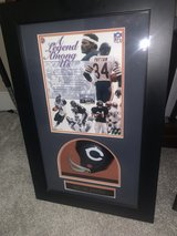 Walter Payton autographed Hall of Fame Card in Shadowbox in Camp Pendleton, California