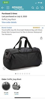 Brand New Duffle Bag in Travis AFB, California