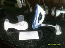 ORECK SPEED IRON ( NEW )  1300-WATTS CORD OR CORDLESS STEAM IRON WITH HOLDING TRAY NEW STICK SOL... in Plainfield, Illinois