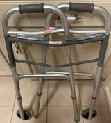 "Guardian Easy Care Two Button Folding Walker with 5"" Wheels in Alamogordo, New Mexico"
