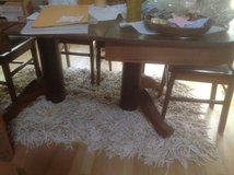 Antique Oak table with 9 leaves/6 chairs in Bartlett, Illinois
