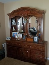 Queen Bed and Dresser with Mirror in Cherry Point, North Carolina