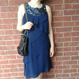 Tiered Navy Dress in Alamogordo, New Mexico