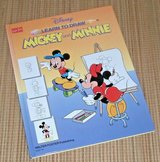 Vintage 1991 Disney Learn To Draw Mickey n Minnie Mouse Over Size HardCover Book in Morris, Illinois