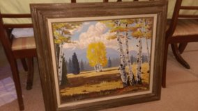 Autumn oil painting in Warner Robins, Georgia