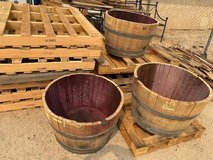 WATERTIGHT HALF OAK BARREL PLANTERS From 60 Gal. Barrels in 29 Palms, California