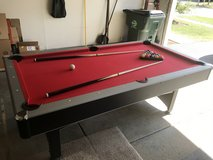 Hathaway Maverick Pool Table with Table Tennis Top, 7-ft, Red in Bartlett, Illinois