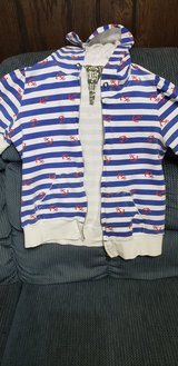 Free super cute sailor nautical short sleeve hoodie Size L teen girls in St. Charles, Illinois