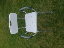 Raised shower seat in Oswego, Illinois
