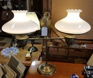 2 Light Student Brass Oil Lamp Converted To Electric in Fort Leonard Wood, Missouri