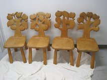 4 Jerzey S Kenar Hand Carved Maple, Apple Back Design Side Chairs in Plainfield, Illinois