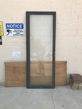 Large Black Metal Trimmed Glass Door in Alamogordo, New Mexico