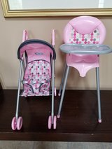 Doll High Chair and Stroller in Naperville, Illinois