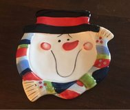 Small Snowman Plate in Naperville, Illinois