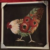 Beautiful Colorful Chicken with flowers picture in Kingwood, Texas