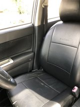 Black leather seat cover set for Toyota Rumion in Okinawa, Japan