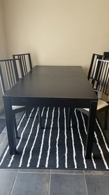 Ikea dining table incl .4 chairs and carpet in Lakenheath, UK