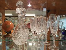 Towle Polish Crystal Decanter and 4 glasses in Fort Leonard Wood, Missouri