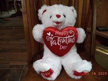 2015 valentines day plush bear in Travis AFB, California
