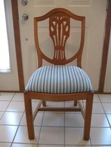 Wood Chair w/Upholstered Seat in Naperville, Illinois