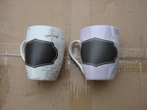 PAIR OF NEW CHALKBOARD COFFEE CUPS in Bartlett, Illinois