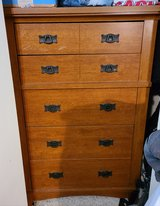 Dresser Chest of Drawers Wood Iron Handles Bed Room tall in Kingwood, Texas