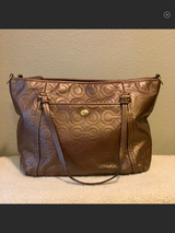 Beautiful Coach Bronze Leather Satchel in Alamogordo, New Mexico